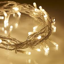 Solar Powered Fairy Lights Review by 40 Warm White Led Indoor Fairy Lights On Clear Cable Lights4fun