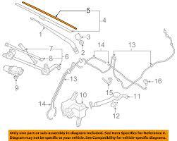 nissan leaf wiper blades nissan oem 13 16 leaf wiper arm front blade 288903nf2b ebay