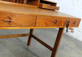 fancy flip top desk for home design vintage mid century danish modern peter teak partners desktop