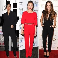 rihanna jumpsuit wear the jumpsuit trend see how rihanna chrissy