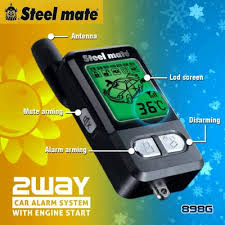898g 2 way car alarm w remote engine auto start