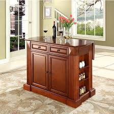 crosley kitchen island crosley furniture drop leaf breakfast bar top kitchen island