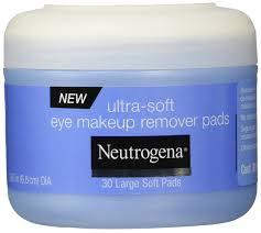 amazon com neutrogena eye makeup remover pads 30 count beauty