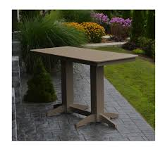 plastic rectangular outdoor table amish made rectangular recycled plastic bar table 4 5 or 6 ft