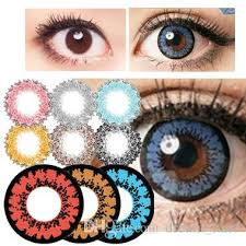dhl molases muse halloween contact lens big diameter blue pink red