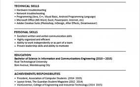 resume format in word resume sles doc format for freshers sle cv template