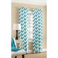 Teal And White Curtains Chevron Curtains Free Home Decor Techhungry Us