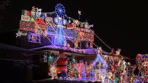 christmas lights houses near me house with christmas lights stock footage video 7667950 shutterstock