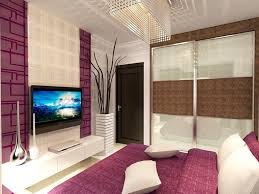 vibrant apartment tv room with led ceiling lights also pink