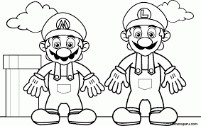 mario and luigi coloring pages to print free download mario and
