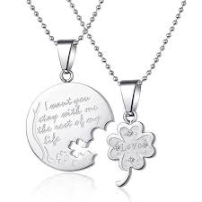 Engraved Necklaces For Her Interlocking Couples Necklaces The Necklace