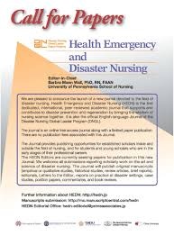 how to write purpose of study in research paper american association for the history of nursing inc call for papers health emergency and disaster nursing hedn journal