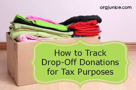 how to track drop donations for tax purposes