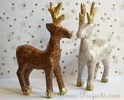 Paper Mache Christmas Crafts - free christmas craft project decoupatch paper maché reindeer