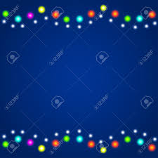 New Christmas Lights by Winter Christmas New Year Background With Colourful Christmas