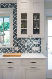 backsplash for a white kitchen white kitchen with blue gray backsplash tile home bunch interior