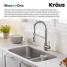 metal kitchen sink and cabinet combo kraus kca 1200 kitchen combo set with 33 inch 16