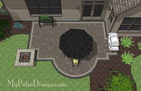 My Patio Design Arc And Rectangles Patio Design With Pit 400 Sq Ft