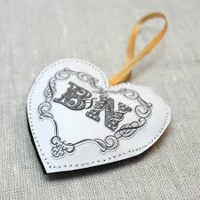 Fabric Heart Decorations Decorative Fabric Heart Decoration By Letterfest