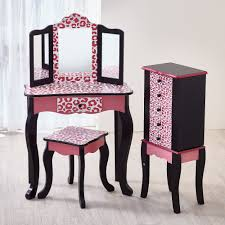 Pink Vanity Table Vanity Table And Stool Set With Mirror Makeup Table Set