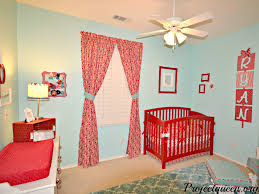 red and turquoise baby nursery boy nursery pinterest