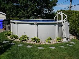 amenagement autour piscine hors sol raboter com une réalisation de tomy bédard nouvelle piscine