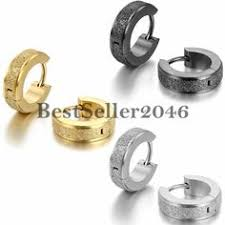 mens huggie earrings jstyle jewelry stainless steel hoop earrings for men women huggie