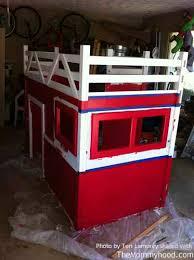 Fire Truck Bunk Bed Diy Firetruck Bunk Bed Built By Two Grandpas