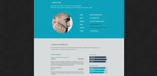 ui design cv beautiful flat resume design