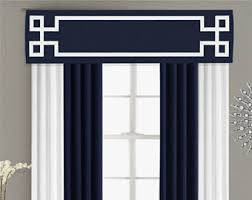 Curtain Box Valance Greek Key Valance Cornice Board Pelmet Box Window Treatment In