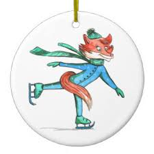 animal skating ornaments keepsake ornaments zazzle