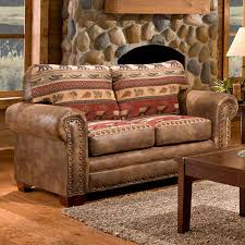 rustic sofas and loveseats outdoor leisure products sierra lodge sofa hayneedle