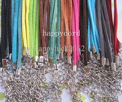 necklace cord with clasp images 3mm 18 20inch adjustable assorted color suede leather necklace jpg