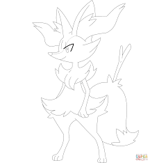braixen coloring page free printable coloring pages