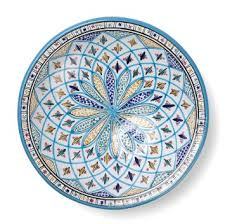 ceramic serving platter buy decorative tunisian ceramic serving platter blue green in
