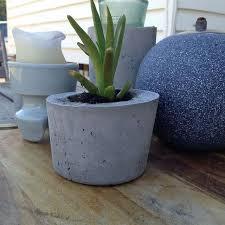 diy concrete planters hometalk
