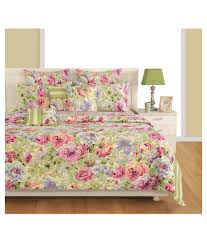 Swayam White N Pink Floral 20 Off On Swayam Double Cotton Floral Bed Sheet On Snapdeal