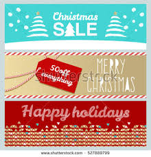set flat winter holidays christmas banners stock vector 527889799
