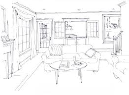 sketch room family room newton residential shannon scarlett architects