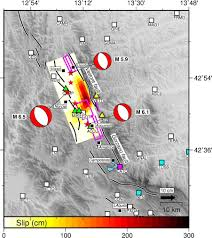 Norcia Italy Map Preliminary Co Seismic Displacements For The October 26 Mw5 9