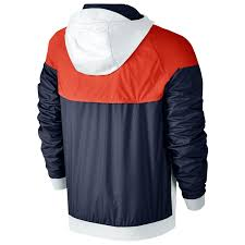 nike windbreaker nike windrunner men u0027s running jacket white navy red