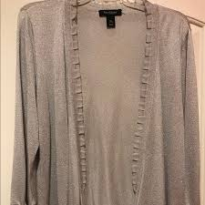silver cardigan sweater 71 white house black market sweaters silver cardigan from
