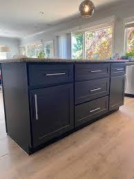 blue kitchen island cabinets custom kitchen island cabinet with slab granite top