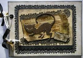 vintage scrapbook album ooak handmade vintage poison scrapbook photo memory