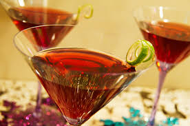 martini pomegranate jewel toned new years eve beenvied