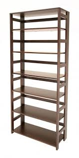 small bamboo stacking bookshelf and top storables in stackable
