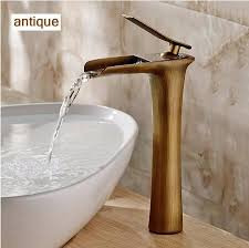 s chrome and white color waterfall faucet tall bathroom faucet