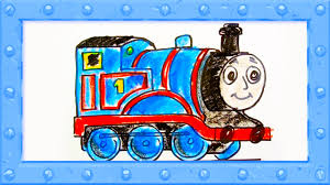draw thomas tank engine drawing colors learning