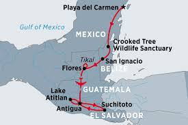 Blank Map Of Belize by Essence Of Central America Guatemala Tours Peregrine Adventures Us
