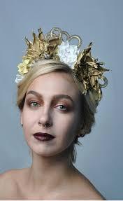 gold headpiece gold flowers crown golden fashion wedding hair accessories bridal